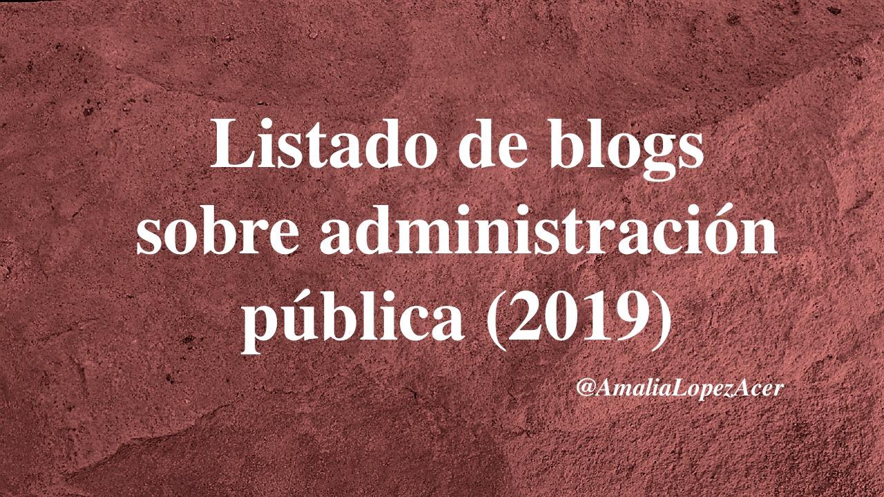 Listado de blogs sobre administración pública