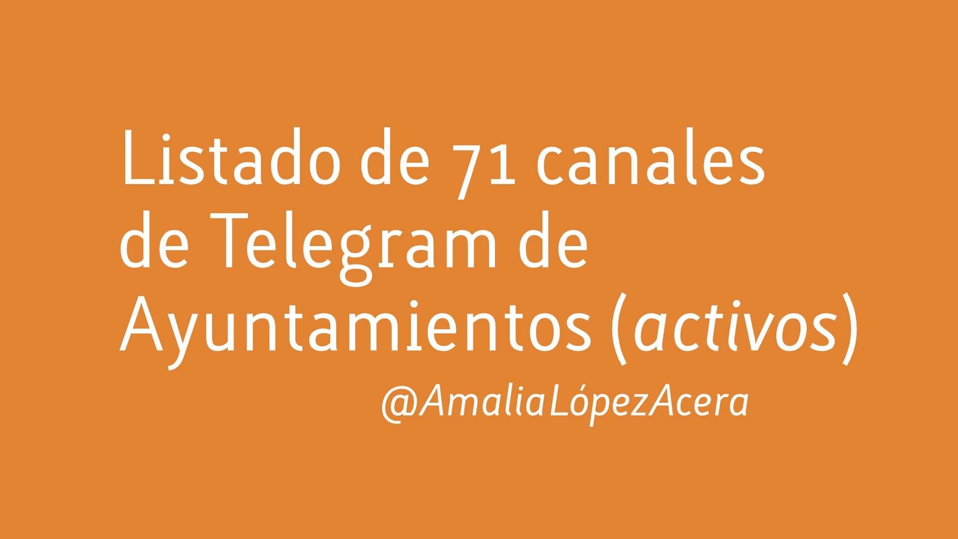 Telegram ayuntamientos