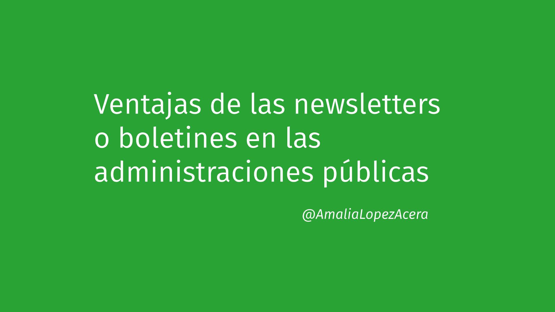 Newsletter administración pública